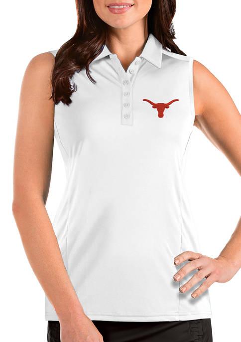 Antigua® Womens NCAA Texas Longhorns Sleeveless Tribute Polo