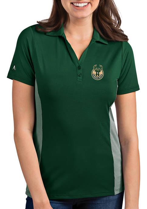 Antigua® Womens Milwaukee Bucks Venture Polo