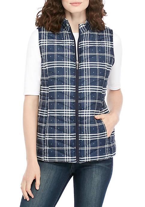 Kim Rogers® Microfiber Plaid Vest