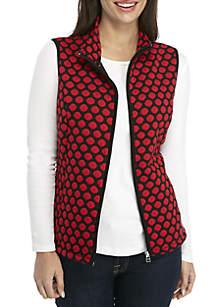Plus Size Sherpa Mock Collar Vest