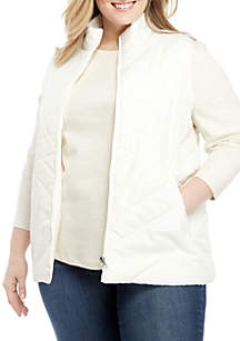 Kim Rogers® Plus Size Quilted Puffer Vest