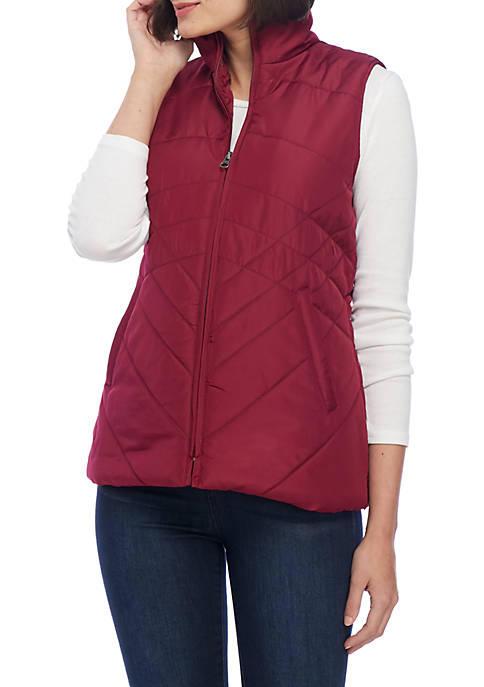 Kim Rogers® Quilted Puffer Vest
