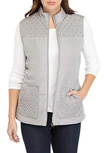 Sequin Puffer Vest