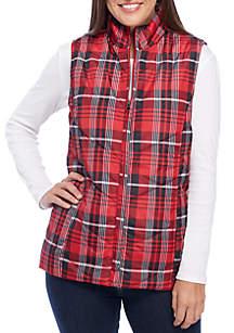 Plaid Quilter Puffer Vest