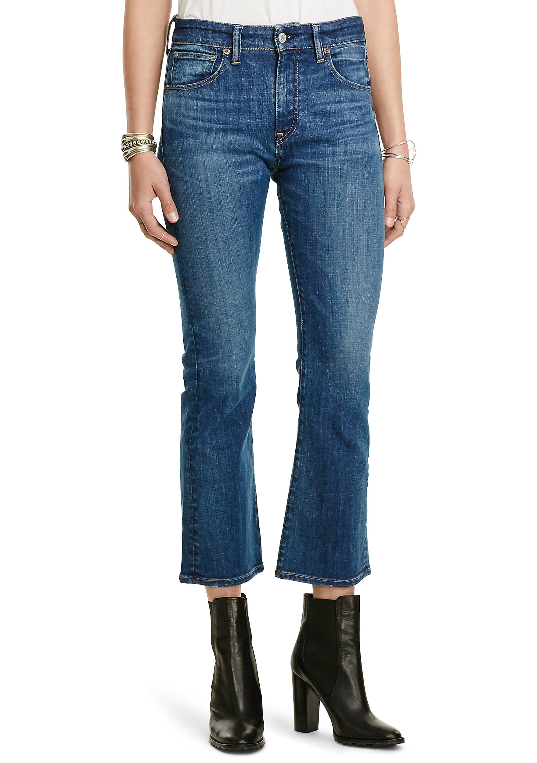 Denim & Supply Ralph Lauren Kenmore Cropped Flared Jeans.  1803974288625601001. Images