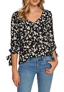 CeCe Woven Floral Top