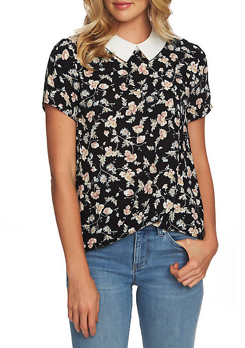 CeCe Small Duchess Floral Top