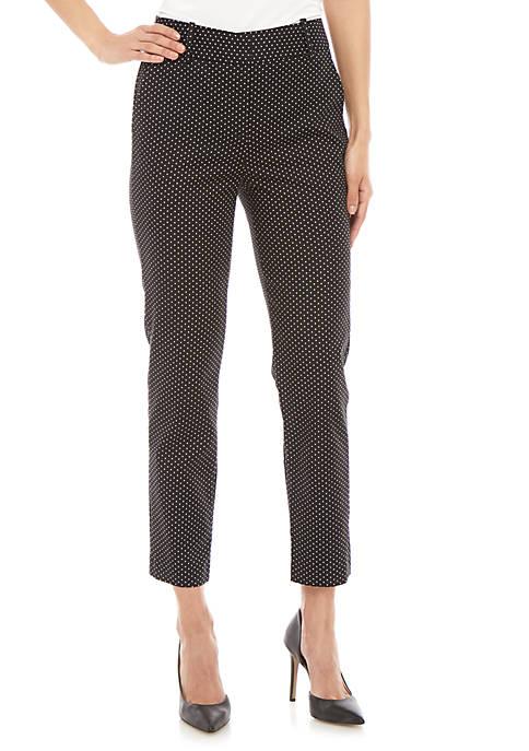 CeCe Polka Dot Straight Leg Pants