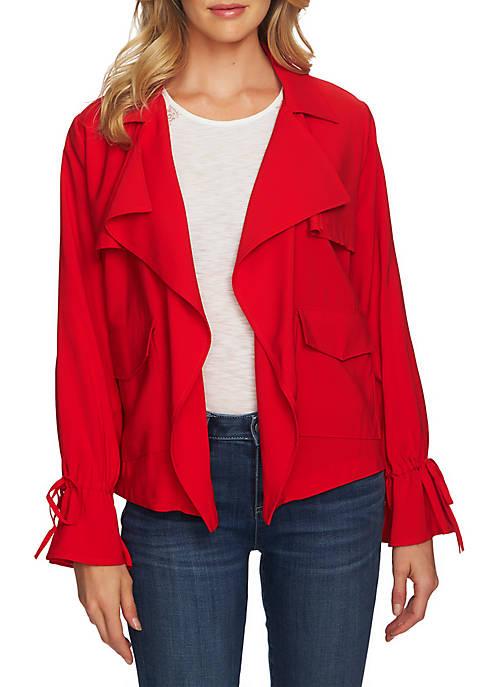 Long Sleeve Short Trench Coat