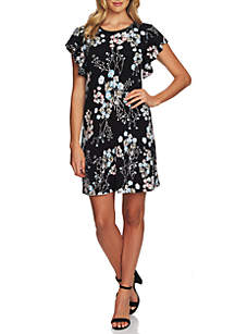 CeCe Short Sleeve Floral Divine Dress