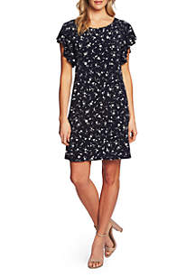 CeCe Short Sleeve Floral Knit Dress