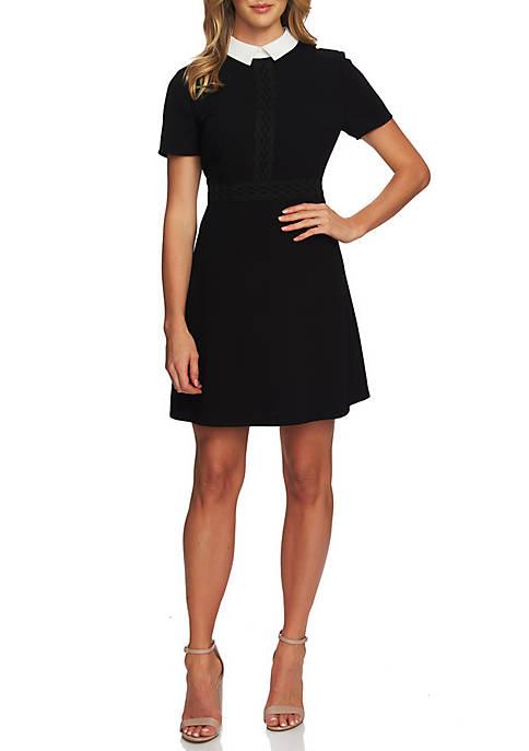 CeCe Short Sleeve Collared Dress