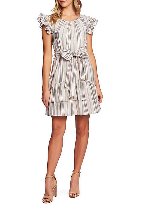 CeCe Metallic Stripe Dress