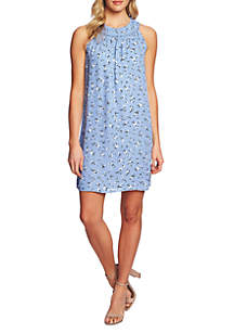 CeCe Sleeveless Floral Print Dress
