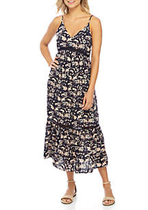 Ivy Floral V-Neck Maxi Dress