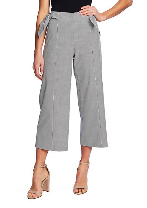 CeCe Ankle Length Seersucker Side Bow Pants