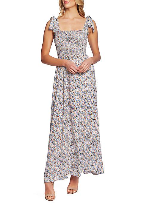 CeCe Ditsy Smock Maxi Dress