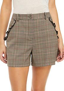 Feminine Glen Plaid Shorts