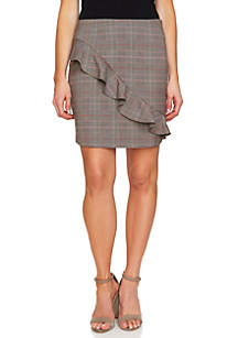 Ruffle Front Menswear Skirt