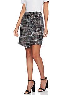 Multi Tweed Mini Skirt