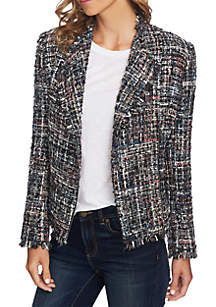 Multi Tweed Moto Jacket