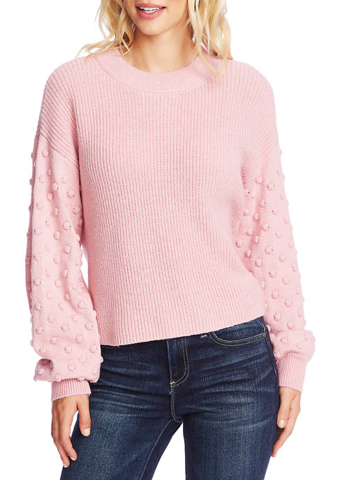 CeCe Womens Long Bubble Sleeve Sweater