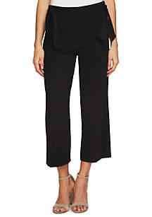 Side Bow Crepe Pants