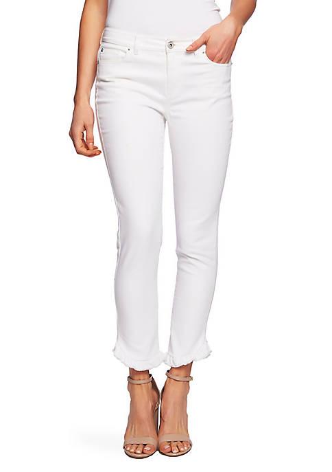 CeCe 5 Pocket Ruffle Hem Jeans