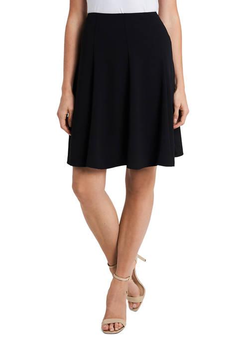 CeCe Womens Moss Crepe Knee Length Flounce Skirt
