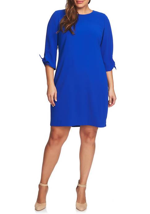CeCe Plus Size 3/4 Tie Sleeve Dress