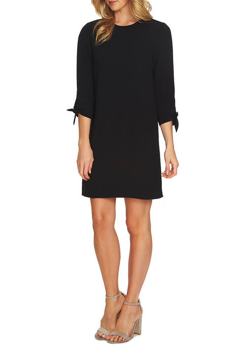 CeCe 3/4 Sleeve Moss Crepe Shift Dress