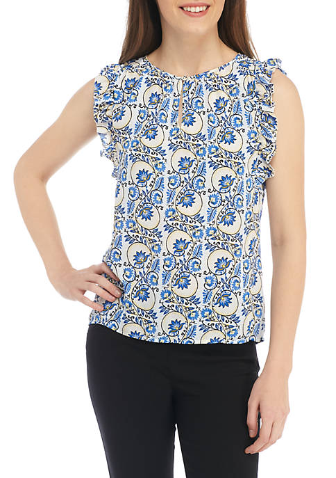 Kaari Blue™ Petite Sleeveless Peasant Top