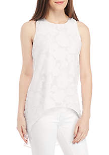 Sleeveless High-Low Cut-Out Top