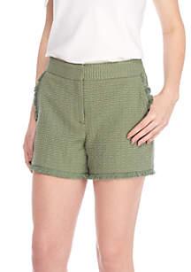 Fringe Trim Shorts