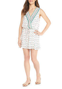 Sleeveless Flutter Bottom Romper