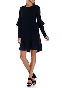 Flounce Sweatshirt Dress