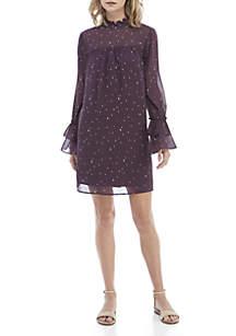 Kaari Blue™ Ruffle Mock Neck Dress