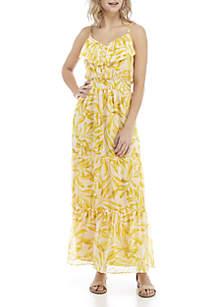 Kaari Blue™ Ruffle Flounce Maxi Dress
