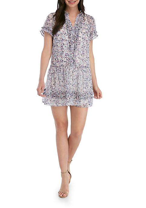 Ruffly Floral Mini Dress
