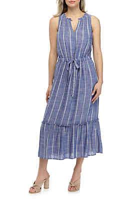 84bf5ca3f28ece Kaari Blue™ Linen Midi Dress ...
