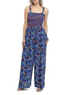 Kaari Blue™ Smocked Wide Leg Jumpsuit