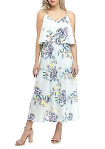 Kaari Blue™ Floral Flounce Maxi Dress