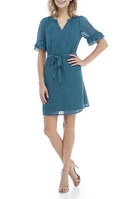 Kaari Blue™ Short Sleeve Tie Waist Dress