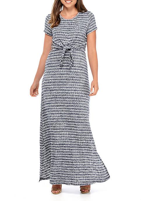 Kaari Blue™ Tie Front Maxi Dress