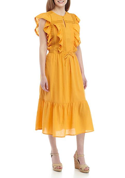 Kaari Blue™ Flutter Sleeve Lace Dress
