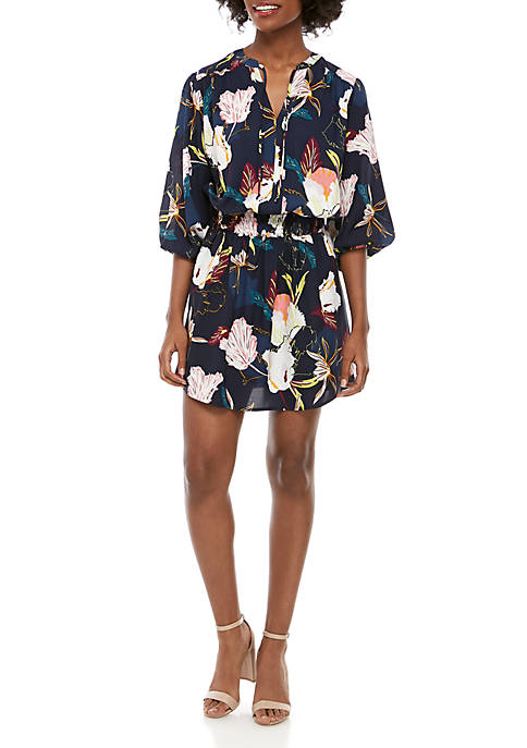Kaari Blue™ Printed Dolman Sleeve Dress
