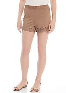 Laser Eyelet Shorts