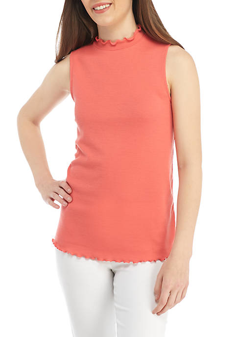 Kaari Blue™ Sleeveless Rib Mock Neck Top