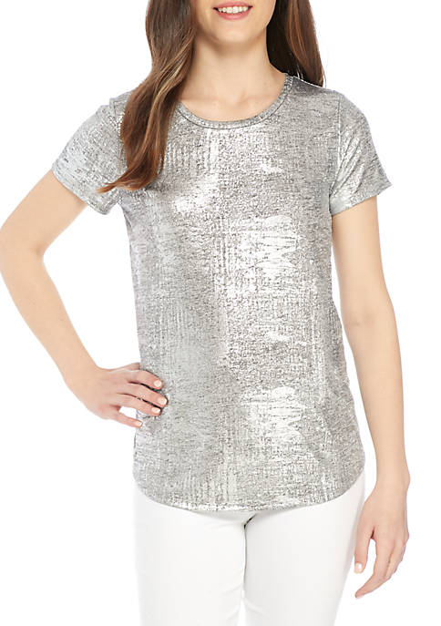 Kaari Blue™ Essential Metallic Short Sleeve Tee
