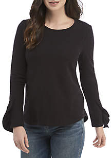 Long Ruffle Sleeves Sweatshirt